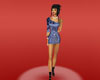 blue gg dress female