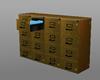 gold file cabinet