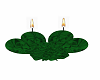 green heart candle deco