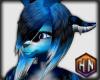 hair v2 neon blue deer
