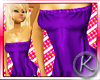 `K Long Tube Top Purple