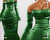 ṩSatin Dress Green