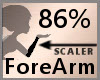 Scale ForeArm 86% F A