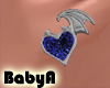 !  BA Blue Stud Hearts