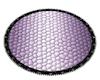 Purple/Black Oval Rug