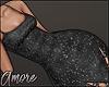 $ Black Shine Dress  M