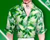 lPL Green Print Shirt  M