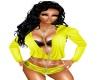 Yellow hoody & shorts