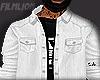 F' White Denim Jacket