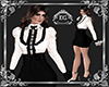 Office lace white black