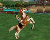 white armored horse
