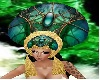 Emerald snake headdress