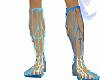 Sandale Romaine Bleu