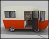 Orange Vintage Caravan