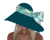 Evett Teal Hat