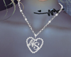NS Heart Necklace