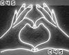 e Heart White |Neon