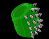Green Spiked Knee Pads