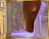 I~Lavender Satin Pumps
