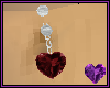 Garnet Heart Silver