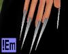 !Em Silver Stileto Nails