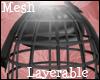 +Layered HoopSkirt+ Mesh