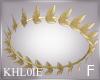 K gold greek crown F