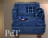 PdT Blue Cuddle Chair