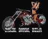 bikes boobs beer poster