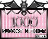1000 Support Sticker