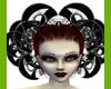 !S Black Gothic headress