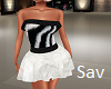 Zebra Fur Dress