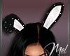 Mel-Bunny Ears Black anm