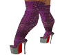 purp glitz boots