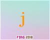 Fo. J Letter Orange