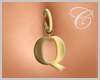 Gold 'Q' Belly Ring