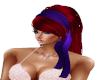 Hair Red Shas Purp Scarf
