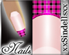 *Pink Plaid* Nails