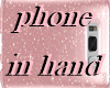 phone in hand rose gold