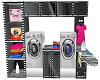 Slver&Blk laundry Center