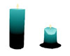 s~n~d melt teal candle