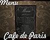 [M] Cafe Paris Menu