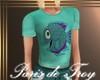 PdT Teal Fish Tee Kid F