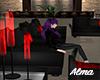 [AL]SofaBlack&Red