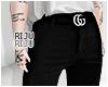 💜  belt pants S
