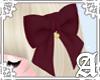 Lovely Ribbon Clip~Wine2