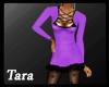 Winter Fur Dress Purple