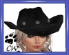 CW Black Cowgirl Hat