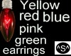 ^S^ Blue bulb Earrings