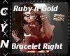 Ruby n Gold Bracelet R